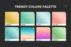Set of colorful trendy gradient template Stock Image