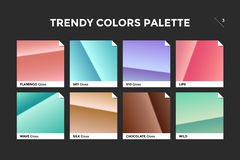Set of colorful trendy gradient template Royalty Free Stock Image