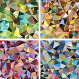 Set of Colorful Triangle Abstract Backgrounds. Vector Pattern of Geometric Shapes Royalty Free Stock Image