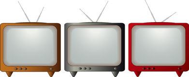 Set of colorful TV Stock Images