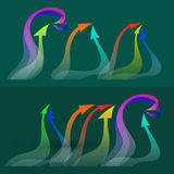 . Set of colorful twisted  arrows. Stock Photos