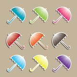 Set of colorful Umbrellas. Stock Photo