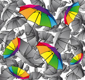 Set of colorful umbrellas Royalty Free Stock Photo