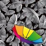 Set of colorful umbrellas. Set of umbrellas. Colorful background Stock Photo