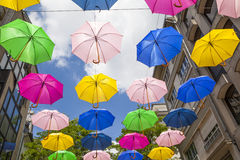 Set of colorful umbrellas Stock Photo