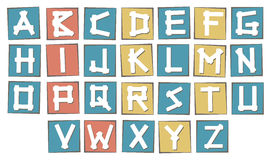 Set of colorful uppercase  alphabet letters on Royalty Free Stock Photography