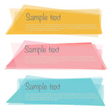 A set of colorful vector banners. Vector EPS of Colorful Banners Set Stock Images