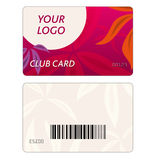 Set of colorful vector business cards Royalty Free Stock Images