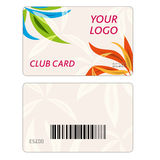 Set of colorful vector business cards Stock Photo