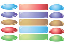 Set of colorful vector buttons for websites Royalty Free Stock Images