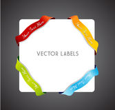 Set of colorful vector corner ribbons. Vector art royalty free illustration