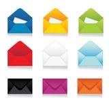 Set of colorful vector envelopes Stock Photos