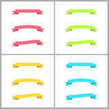 Set of colorful vector flexible ribbons Stock Image