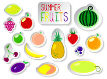 Set of colorful vector fruit icons royalty free illustration
