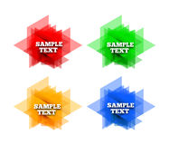 Set of colorful vector labels Stock Images