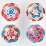 Set of colorful vector ornaments Stock Photo
