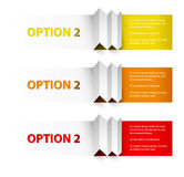 Set of Colorful Vector Sample option boxes Royalty Free Stock Image
