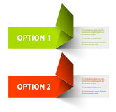 Set of Colorful Vector Sample option stickers Stock Photo