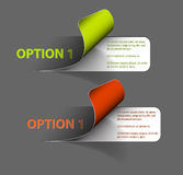 Set of Colorful Vector Sample option stickers royalty free illustration
