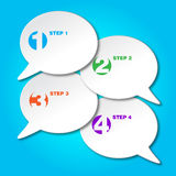 Set of colorful vector sample option stickers. Vector stock illustration