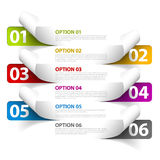 Set of Colorful Vector Sample option stickers Royalty Free Stock Photography