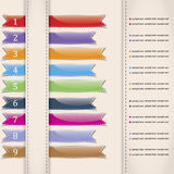 Set of colorful vector sample ribbons Stock Photo