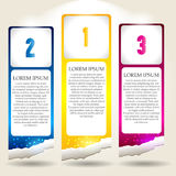 Set of Colorful Vector Sample stickers Royalty Free Stock Image