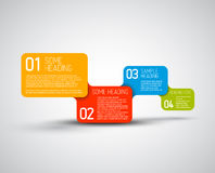 Set of colorful Vector steps template Stock Photos