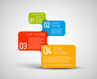 Set of colorful Vector steps template. Set of colorful Vector steps / options template Stock Photos