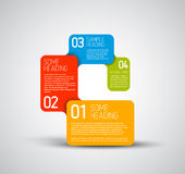 Set of colorful Vector steps template Stock Photo