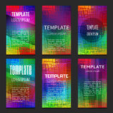 Set of colorful vector templates Stock Photography