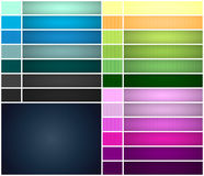 Set of colorful vertical lined seamless patterns and banners Stock Image