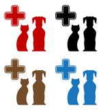 Set colorful veterinary care icon Stock Image