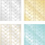 Set of colorful vintage textures. Seamless backgrounds for Wallp. Aper, vector Royalty Free Stock Images