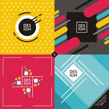 Set of colorful vivid backgrounds and patterns Stock Photo