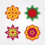 Set of colorful volumetric flowers (collection). This is file of EPS10 format Vector Illustration