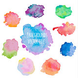 Set of colorful watercolor backgrounds. Stock Photos