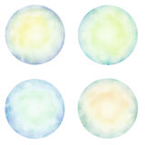 Set of colorful watercolor circle. Royalty Free Stock Photo