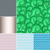Set colorful wave patterns Stock Photo