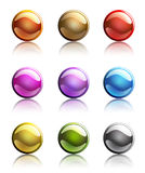 Set of colorful web button templates Stock Photo