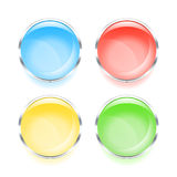 Set of colorful web buttons Royalty Free Stock Photography