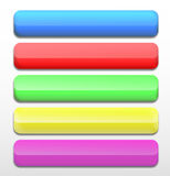 Set of colorful web buttons. Stock Image
