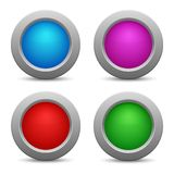 Set of colorful web buttons. Vector illustration Royalty Free Stock Image