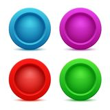 Set of colorful web buttons Stock Images