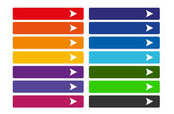 Set of colorful web buttons Royalty Free Stock Photos