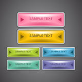Glossy Web Buttons. A set of colorful web buttons for website design purpose Stock Photo
