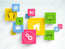 Set of colorful web icons. Royalty Free Stock Images