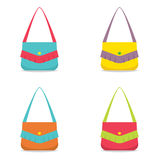 Set of Colorful Women Bag Stock Images
