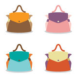 Set of Colorful Women Bag Stock Image