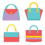 Set Of Colorful Women Bags Stock Image